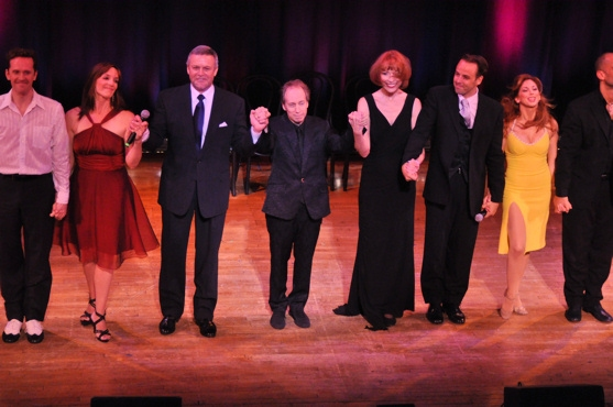 Finale-Jeffry Denman, Julia Murney, Ron Raines, Scott Siegel, Karen Akers, Noah Racey and Lorin Latarro at All Singin,' All Dancin' at The Town Hall