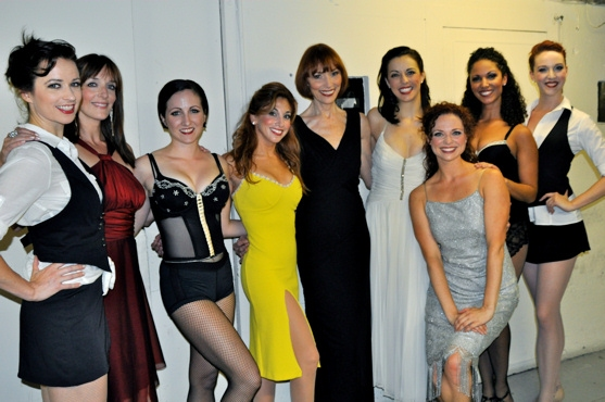 The ladies of the cast-Helen Anker, Julia Murney, Margot De La Barre, Lorin Latarro, Karen Akers, Erin Denman, Kristen Beth Williams, Jennifer Rias and Bethany Moore