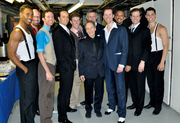 The men of the cast-James Brown III, Scott Coulter, Jeremy Benton, Noah Racey, Mark Ledbetter, Scott Siegel, Ron Raines, Jeffry Denman, Dennis Stowe, J. Austin Eyer and Steve Schepis