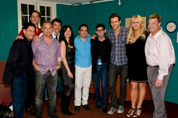Eugene Pack, Angelo Fraboni, Jay Thomas, Bryan Batt, Dayle Reyfel, Mario Cantone, Gary Solomon, Ryan Reynolds, Jennifer Coolidge, and John Goodman