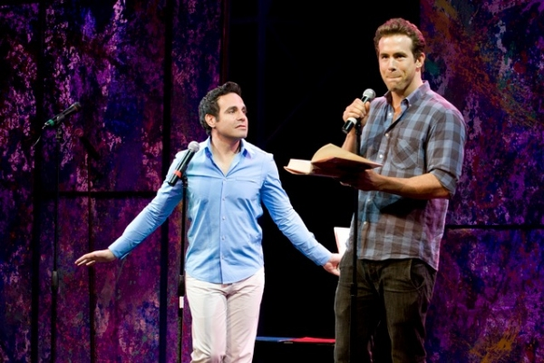 Mario Cantone and Ryan Reynolds at Coolidge, Cantone, et al. Lead CELEBRITY AUTOBIOGRAPHY in New Orleans!