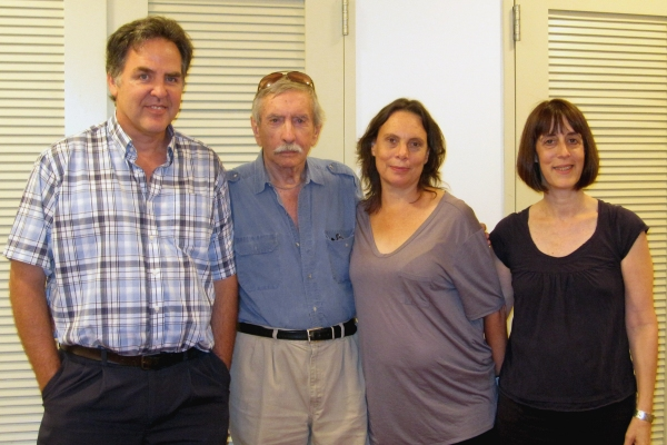 Playwrights Horizons artistic director Tim Sanford, Edward Albee, Emily Mann, PH managing director Leslie Marcus