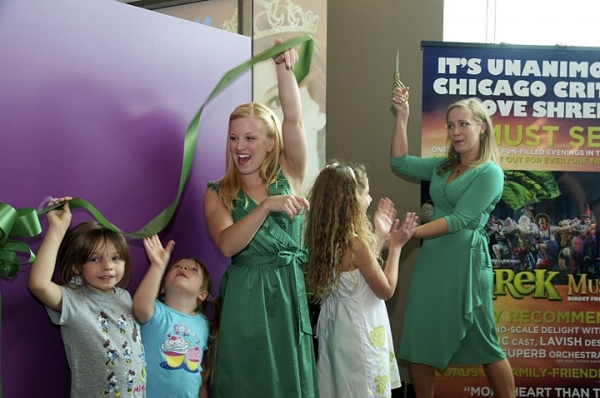 Sarah Peak, Scarlett Diaz and Haven Burton at Look Inside the Swamp: Shrek from Book to Screen to Stage