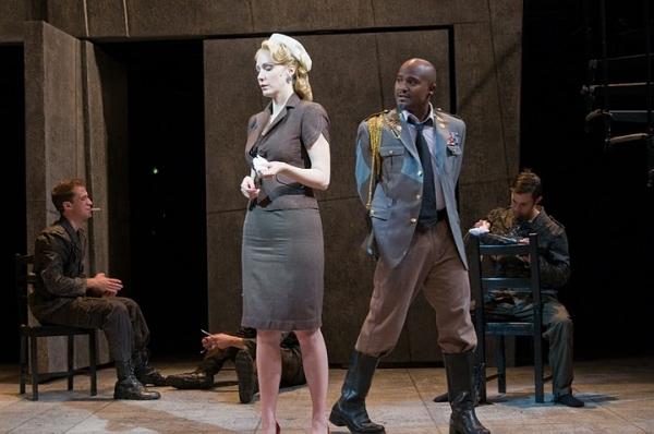 Greg Coughlin (Ensemble), Marianna Bassham (Desdemona), Seth Gilliam (Othello), Brand Photo