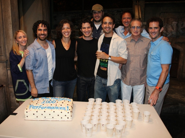 Jill Furman Willis, Alex Lacamoire, Quiara Alegria Hudes, Thomas Kail, Bill Sherman, Lin-Manuel Miranda, Kevin McCollum, Sandy Jacobs and Andy Blankenbuehler at Photos: IN THE HEIGHTS Celebrates 1000th Performance on Broadway!