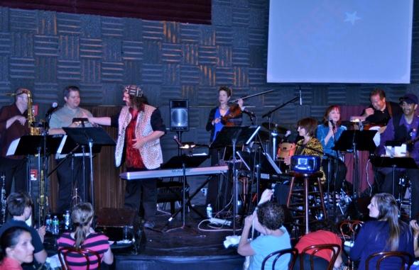 The Dream Band-Doug Katsaros, Elise Morris, Aaron Heick, Jame De La Garza, Jeff Carney, Steve Bargonetti, Clint De Ganon, Cara Sawell and Margaret Dorn