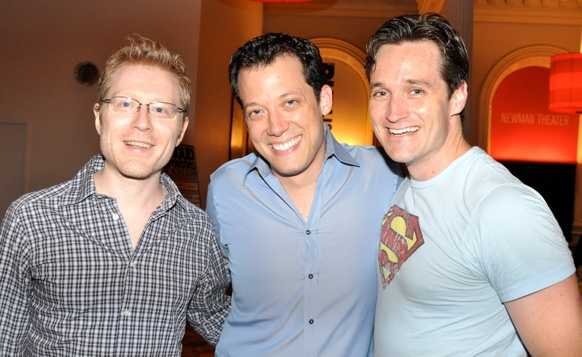 Anthony Rapp, John Tartaglia and Michael Shawn Lewis