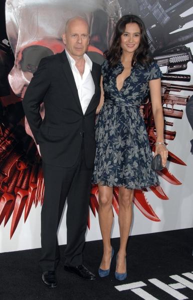 Bruce Willis (L) and Emma Heming Photo