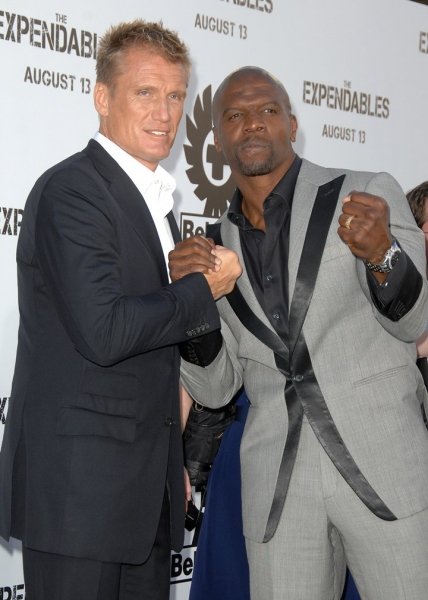 Dolph Lundgren (L) and Terry Crews
