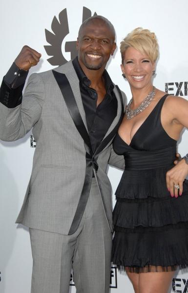 Terry Crews (L) and Guest