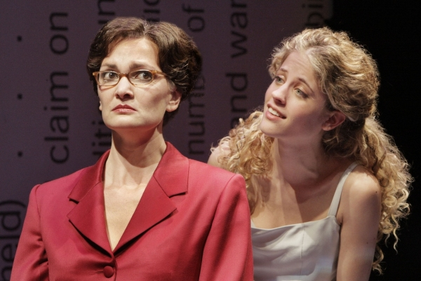 Kate Eifrig and Valeri Mudek at The Tricycle Theatre Presents TINY KUSHNER