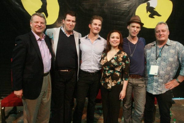Tim McFarlane of The Really Useful Group Company Asia Pacific, John Ellis, Shaun Rennie, Lea Salonga, John O' Hara, James Cundall of Lunchbox Theatrical Productions