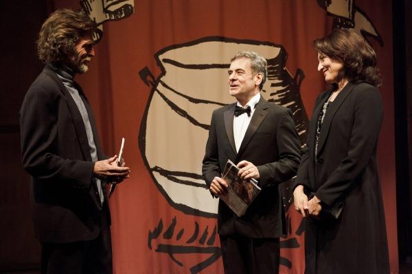 John Glover (L), Mark Nelson and Amy Aquino