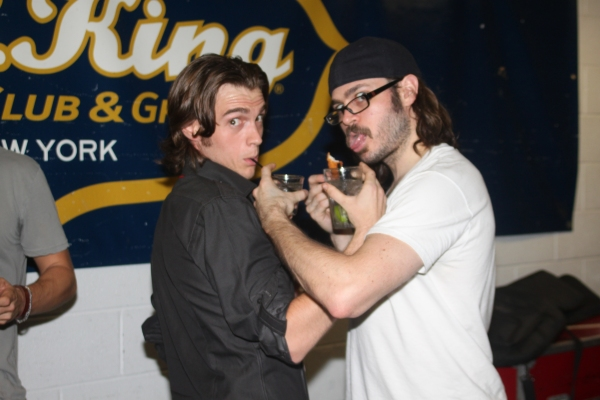 Justin Sargent and Mitchell Jarvis  at ROCK OF AGES Broadway & Touring Casts Celebrate at BB Kings