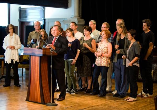 Mayor Richard M. Daley, the Sydney cast of August: Osage County, Martha Lavey, Tracy  Photo