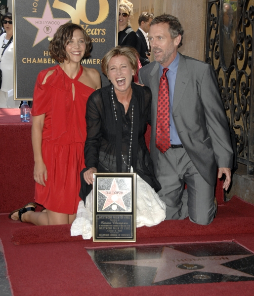 Maggie Gyllenhaal, Emma Thompson, and Hugh Laurie