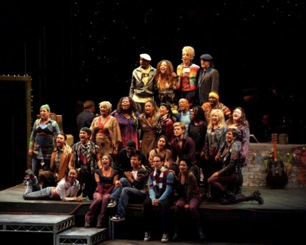 The cast of RENT at the Hollywood Bowl