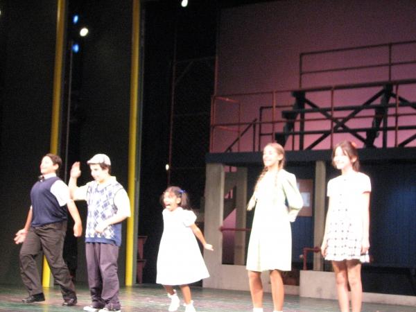 Nicholas Ferrauto, Michael Recchia, Frenie Acoba, Adra Mifsud, Miranda Abbot at DAMN YANKEES at John W. Engeman Theater