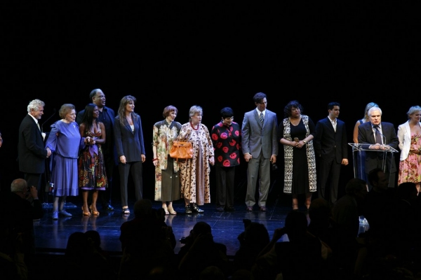 ENSEMBLE singing Happy Birthday: Patricia Neal, LaChanze, Ken Page, Lucie Arnaz, Tammy Grimes,Liza Minnelli, Harry Connick Jr. & Peter Filichia attending The 62nd Annual Theatre World Awards, June 6, 2006 at BWW Remembers Patricia Neal