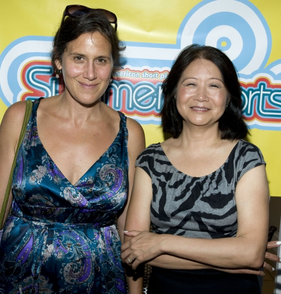 Laura Barnett with cast member Jo Yang  Photo