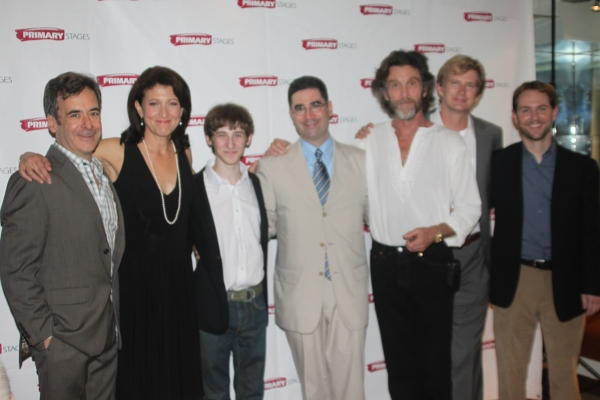Mark Nelson, Amy Aquino, Noah Robbins, Jonathan Tolins (Playwright), John Glover, Bill Brochtrup and Matt Shakman (Diredtor) at Primary Stages Opens SECRETS OF THE TRADE