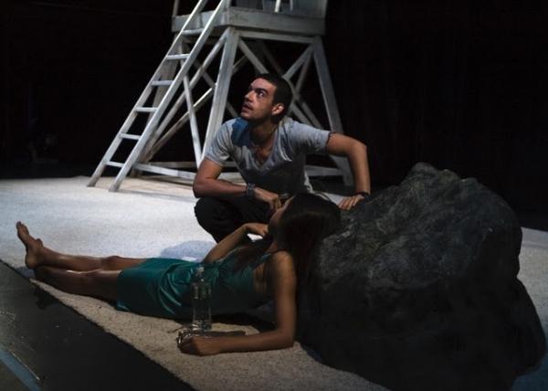 Bobby Moreno and Amelia Jean Alvarez at SOUTH BEACH RAPTURE Plays Fringe NYC