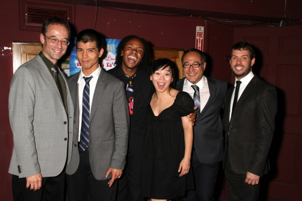 Gary Adler (music director, and composer of ALTAR BOYZ), Telly Leung, Shaun Earl, Yuka Takara, Alan Muraoka (Telly's director) and Cabaret Producer Matt Patton