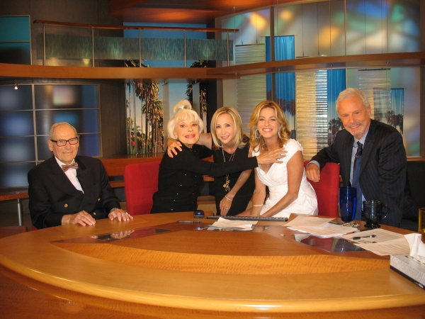 Harry Kullijian and Carol Channing with Good Day LA co-hosts Dorothy Lucey, Steve Edw Photo
