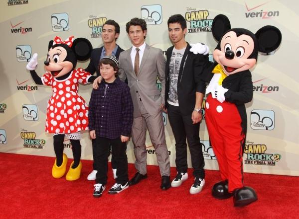 Frankie Jonas, Kevin Jonas, Nick Jonas and Joe Jonas at 'Camp Rock 2: The Final Jam' Premieres in New York City