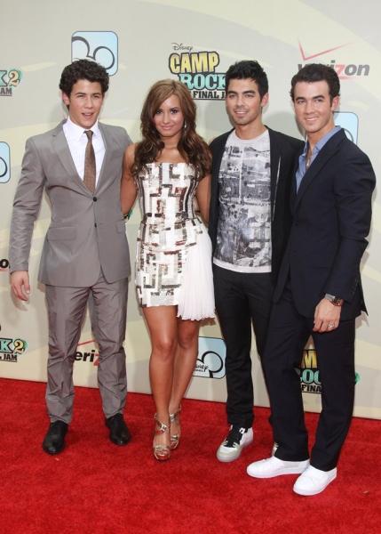 Nick Jonas, Demi Lovato, Joe Jonas and Kevin Jonas