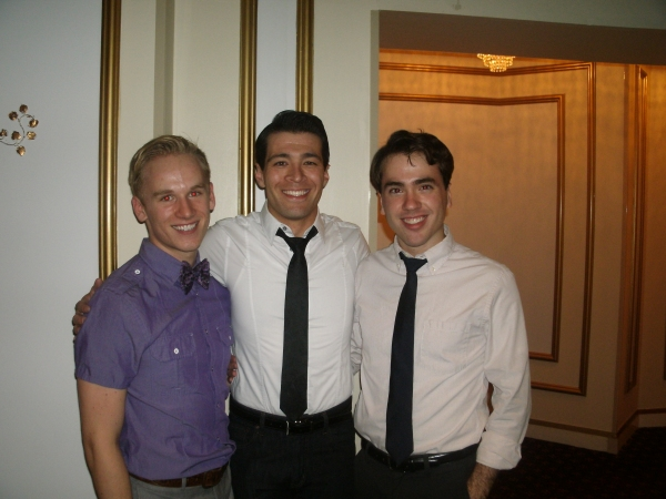 Evan Autio (Gentleman of Japan), Kent Hania (Band Singer), and Nate Lewellyn