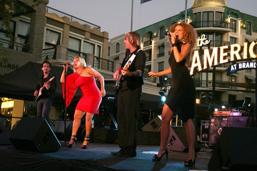 Nick Perez, Taylor Dayne, Jonny Morrow & Laura Jane Jones at The Americana at Brand