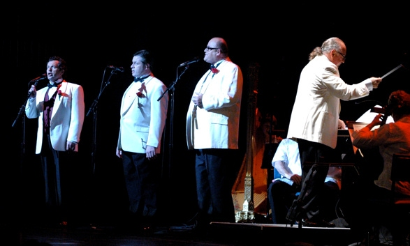 The Irish Tenors Renunion Tour 2010-Finbar Wright, Anthony Kearns, Ronan Tynan and musical director Arnie Roth