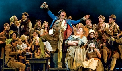 Martin Ball and Lorainne Bruce with LES MISERABLES Company