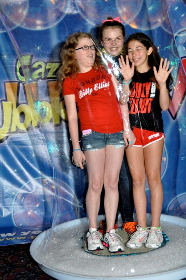 Brianna Fragomeni, Ruby Rakos and Aly Brier (Billy Elliot) at 'Broadway Brain Freeze' with BILLY, POPPINS and More