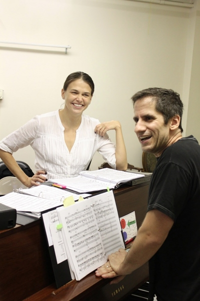 Photo Flash: THEY'RE PLAYING OUR SONG in Rehearsal!