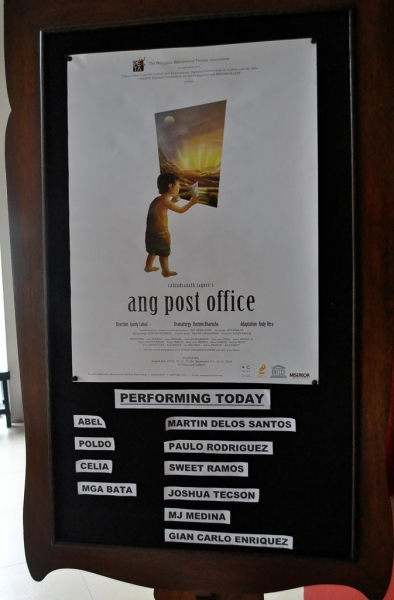 Photo Flash: THE POST OFFICE - The Trouper In Martin Delos Santos