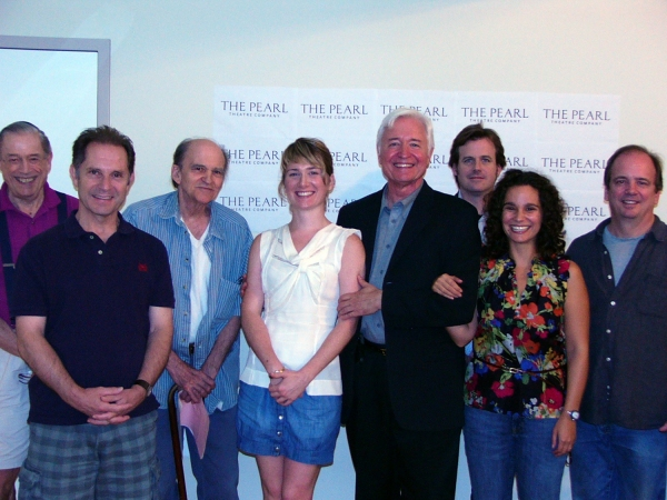 Robert Hock, Dominic Cuskern, Edward Seamon, Lee Stark, J.R. Sullivan, Bradford Cover, Rachel Botchan, Chris Mixon at SNEEZE Releases Rehearsal Photos