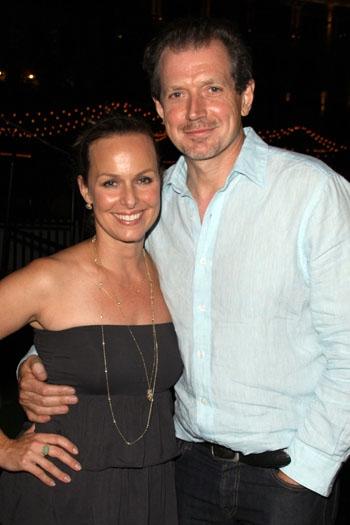 Melora Hardin and husband at The Americana at Brand