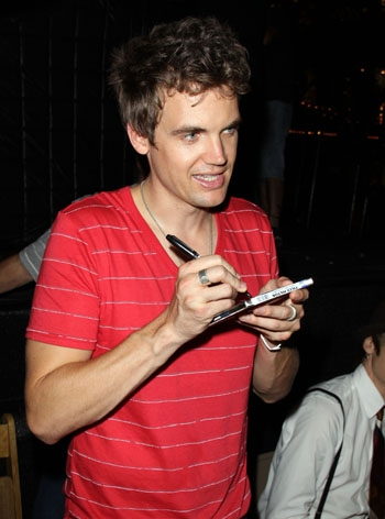 Tyler Hilton greeting fans at The Americana at Brand