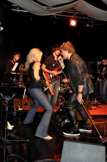 Brian Nash, Betsy Goode, Dustin Brawley and Rob Evan at Rob Evan and Menrva Realm Live in Concert
