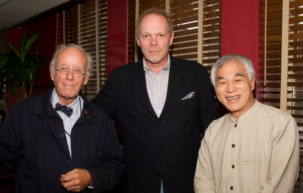 Eugene Lee,  Edgar Dobie and Bing Thom at Leon, Nottage et al. Celebrate Arena Stage at Sardi's Reception