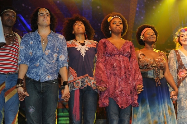 Liam Tamne, Crystal Joy and cast of Hair