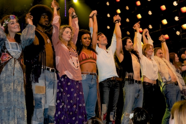Kacie Sheik, Sasha Allen and cast of Hair