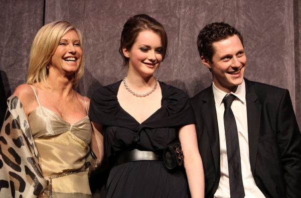 Olivia Newton John, Allie MacDonald and Noah Reid