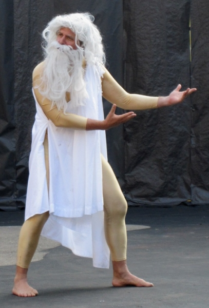 "Director M. Greenfield briefly appears as ""The Ghost of Sophocles."""