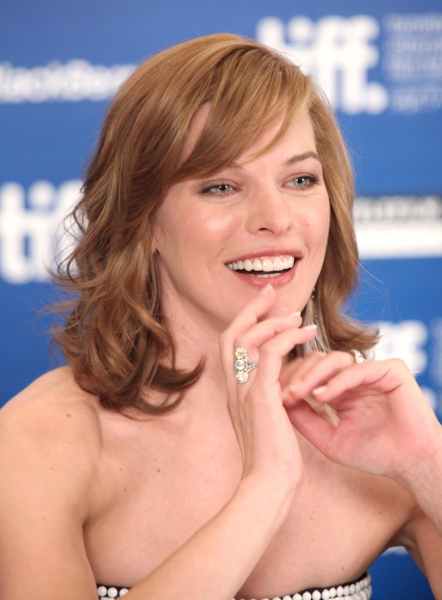 Milla Jovovich at STONE Press Conference at the Toronto International Film Festival