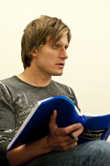 PJ Griffith at HEATHERS in Rehearsal!