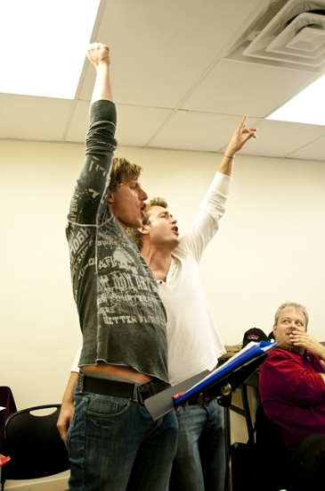 PJ Griffith and James Snyder at HEATHERS in Rehearsal!