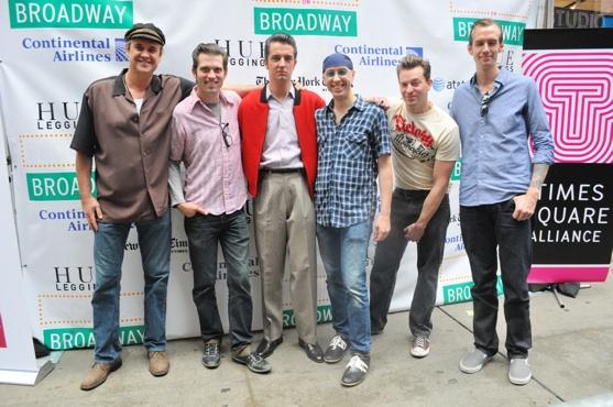 Lance Guest, Robert Britton Lyons, Eddie Clendening, Larry Lelli, Levi Kreis and Corey Kaiser